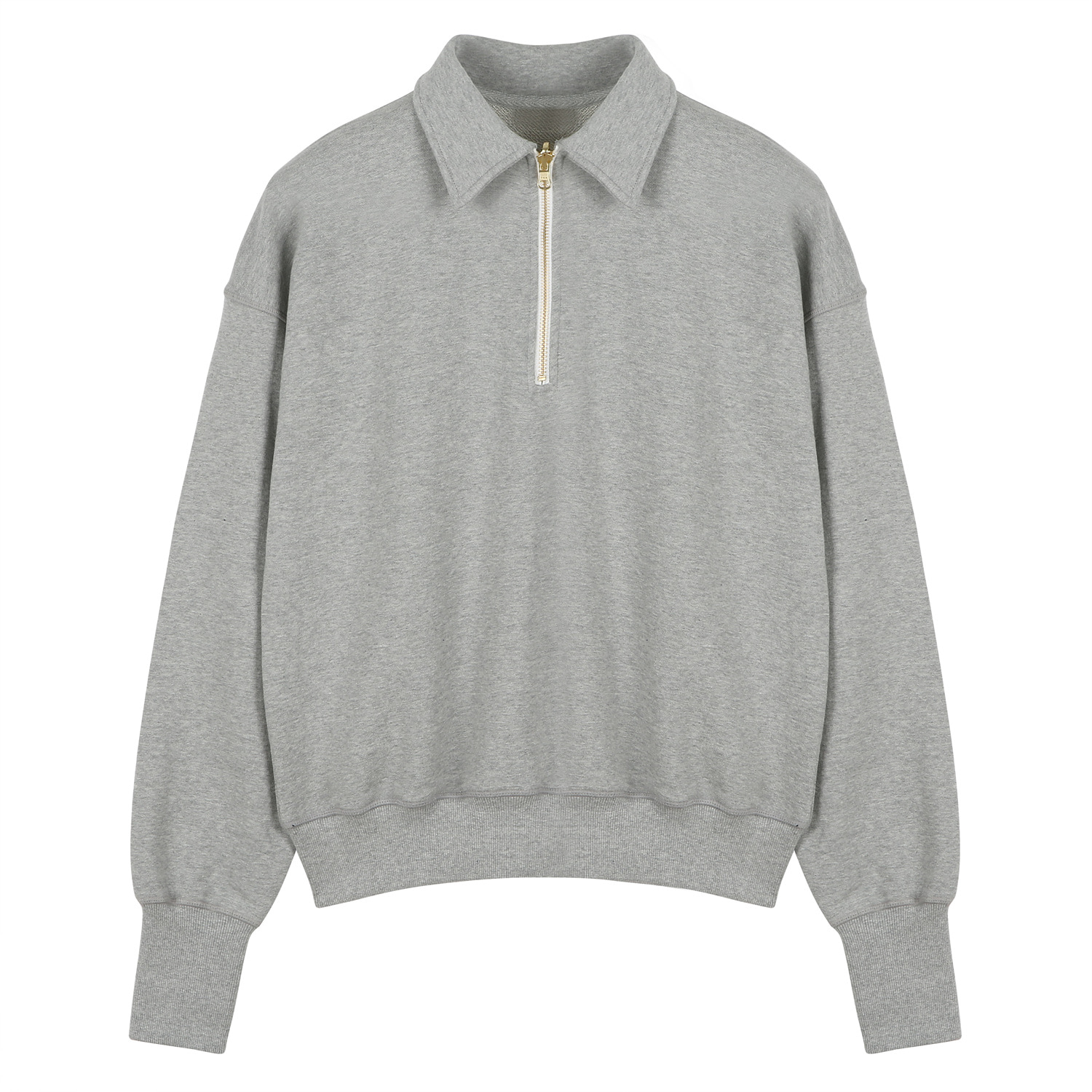 ORE COTTON 001 Zip-up pullover L.grey