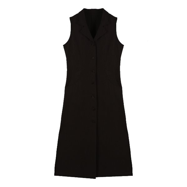Ore Linen button dress (BLACK)