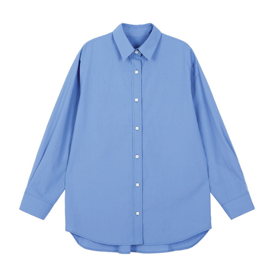 Loose fit shirt cotton MARILIN BLUE
