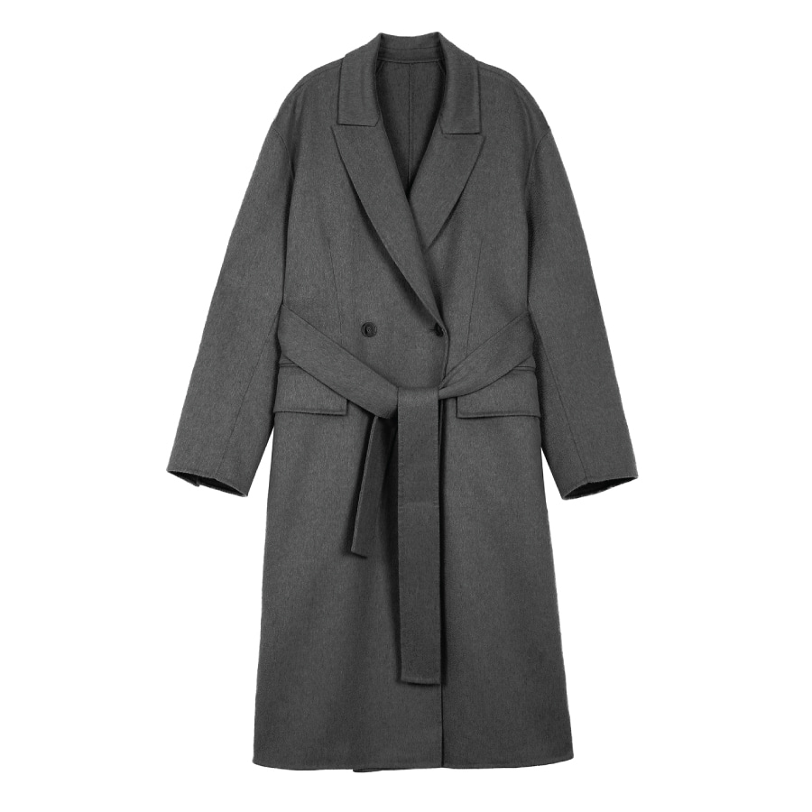 Cashwool structured coat ASH - handmade