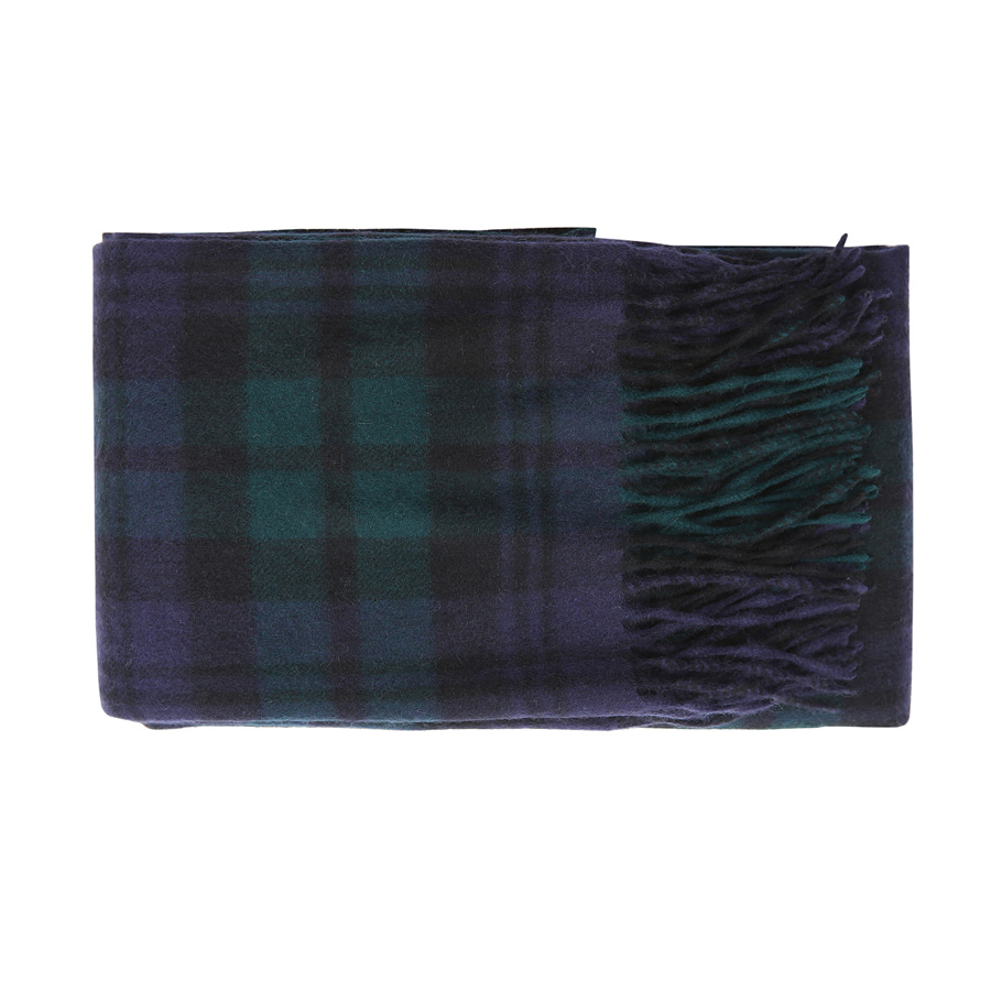 Cashmere checked muffler
