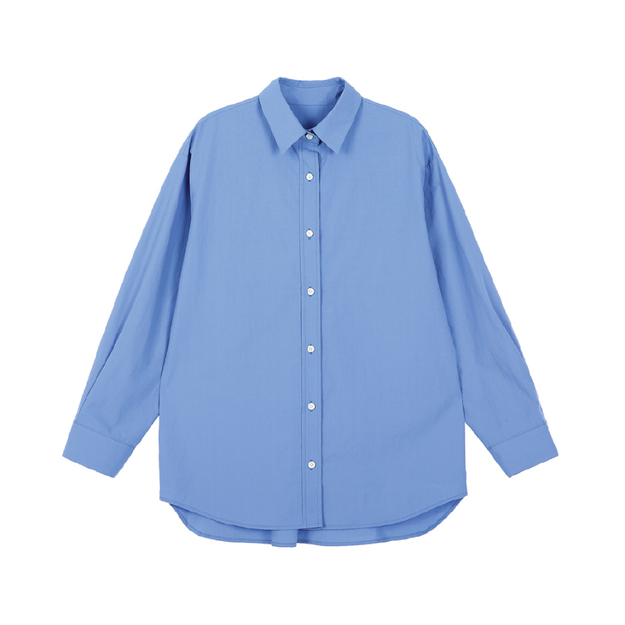 5th) Loose fit shirt Marine blue