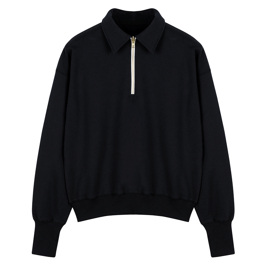 2nd) ORE COTTON 001 zip-up Black