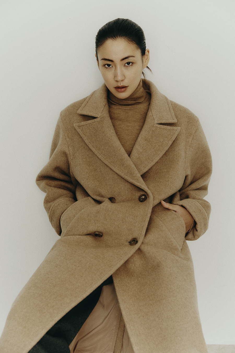[PRE-ORDER 10/22 23:00종료] Wool Double CT Camel Herringborn