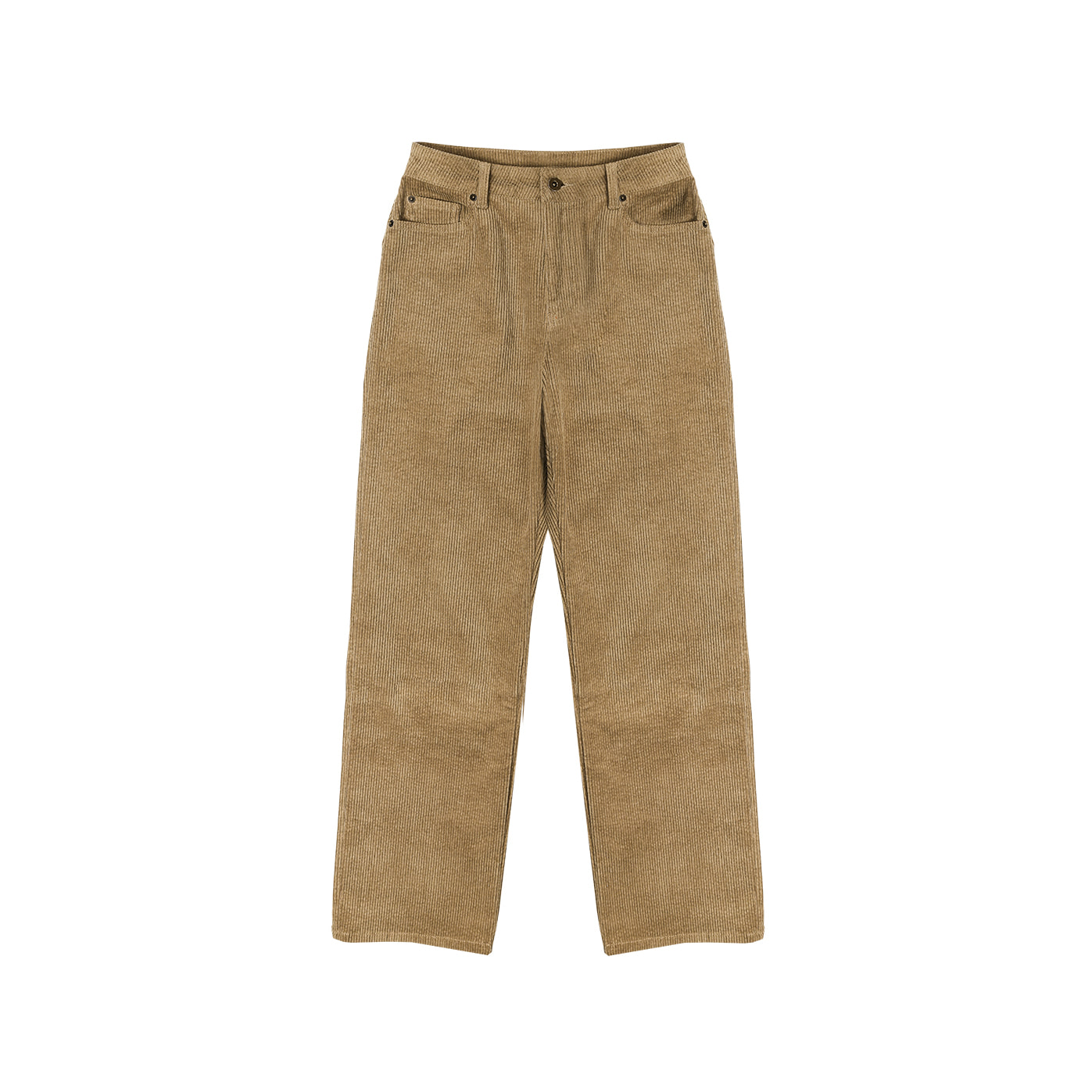 2nd) Midrise Straight fit Coduroy Mocha